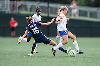 Allston, MA - Sunday July 17, 2016: Sarah Killion, Stephanie Verdoia during a regular season National Women's Soccer League (NWSL) match between the Boston Breakers and Sky Blue FC at Jordan Field.