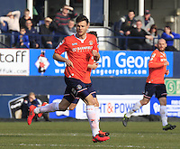 Luton Town midfielder Jonathan Smith during the Sky Bet League 2 match between Luton Town and Crawley Town at Kenilworth Road, Luton, England on 12 March 2016. Photo by Liam Smith.