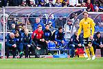 Uppsala 2014-05-01 Fotboll Svenska Cupen IK Sirius - IF Elfsborg :  <br /> Sirius Andreas Andersson p&aring; avbytarb&auml;nken under matchen<br /> (Foto: Kenta J&ouml;nsson) Nyckelord:  Svenska Cupen Cup Semifinal Semi Sirius IKS Elfsborg IFE portr&auml;tt portrait
