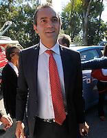 il sindaco di Napoli Luigi de Magistris    durante la cerimonia di  commemorazione delle 4 giornate di Napoli