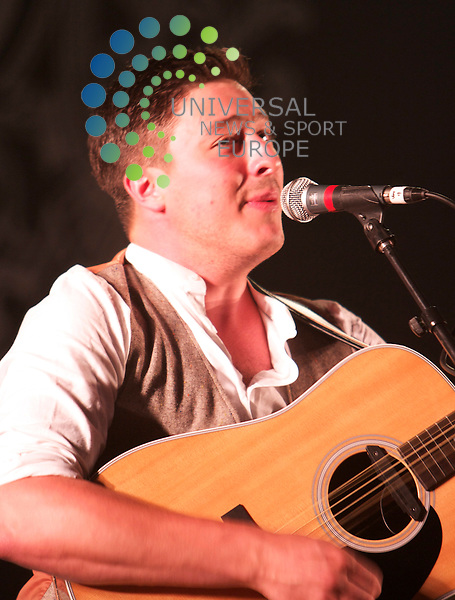 T in The Park 2010 Day Two.2010..10-07-10.Marcus Mumford of Mumford and Sons wow's the crowd in the King Tut's tent at T in the Park..At The Second Day of the T in the Park Music Festival, Balado...Picture, Mark Davison/Universal News and Sport.