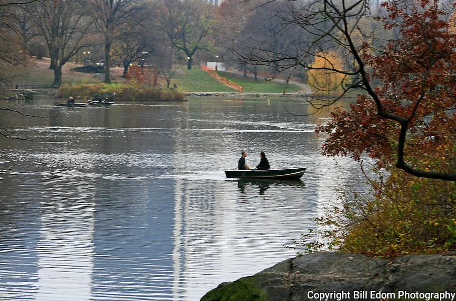Boating on Central Park Lake.