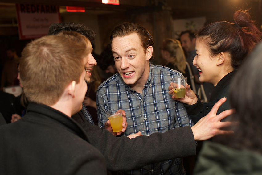 NEW YORK, NY - March 3, 2016: Edible Manhattan hosts Good Spirits, a tasting event featuring New York State liquor brands and local restaurants and mixologists.<br /> <br /> CREDIT: Clay Williams for the Edible Manhattan.<br /> <br /> &copy; Clay Williams / claywilliamsphoto.com