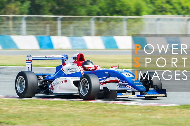 Sean Zheng of China and Cebu Pacific Air by KCMG drives during Formula Masters China Series as part of the 2015 Pan Delta Super Racing Festival at Zhuhai International Circuit on September 18, 2015 in Zhuhai, China.  (Photo by Mose Ng/Power Sport Images/Getty Images)