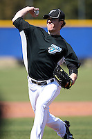 March 1, 2010:  Pitcher Lance Broadway (36) of the Toronto Blue Jays during practice at Englebert Complex in Dunedin, FL.  Photo By Mike Janes/Four Seam Images
