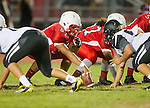 Lawndale, CA 09/26/14 - Chris Guzman (Lawndale #51) in action during the Palos Verdes Peninsula vs Lawndale CIF Varsity football game at Lawndale High School.  Lawndale defeated Peninsula 42-21