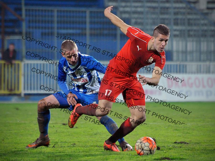 Fudbal Jelen Super League season 2016-2017<br /> Novi Pazar v Napredak (Krusevac)<br /> Milos Lepovic (L) i Aleksa Vukanovic (D) <br /> Novi Pazar, 22. 10. 2016<br /> foto: Emir Sadovic/Starsportphoto &copy;
