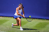June 18th 2017, Edgbaston Priory Club; Tennis Tournament; Aegon Classic Birmingham; Sunday Qualifiers; Ipek Soylu back hand against Miyu Kato