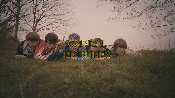 Adam Long, Nico Mirallegro, Elliott Tittensor <br /> in Spike Island (2012) <br /> *Filmstill - Editorial Use Only*<br /> CAP/NFS<br /> Supplied by Capital Pictures