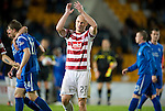 St Johnstone v Hamilton Accies...10.05.11.Simon Mensing applaudas the Accies fans.Picture by Graeme Hart..Copyright Perthshire Picture Agency.Tel: 01738 623350  Mobile: 07990 594431