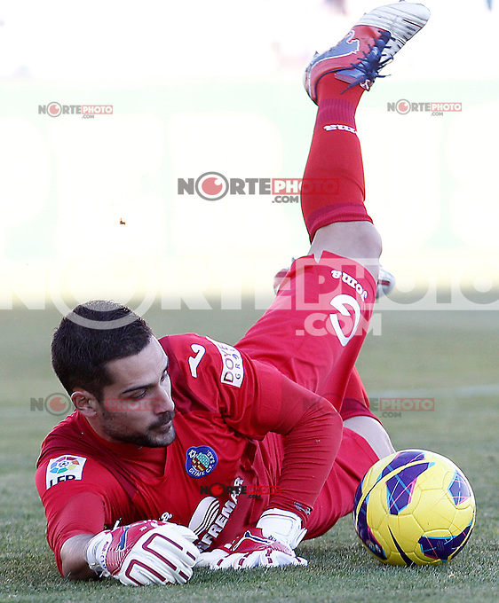 Getafe's Miguel Angel Moya during La Liga match.December 01,2012. (ALTERPHOTOS/Acero) ©/NortePhoto