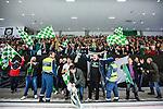 V&auml;ster&aring;s 2014-03-08 Bandy SM-semifinal 4 V&auml;ster&aring;s SK - Hammarby IF :  <br /> V&auml;ster&aring;s supportrar &auml;r glada efter matchen <br /> (Foto: Kenta J&ouml;nsson) Nyckelord:  VSK Bajen HIF glad gl&auml;dje lycka leende ler le supporter fans publik supporters