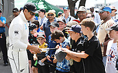 3rd December 2017, Wellington, New Zealand;  Ross Taylor signs autographs.<br /> Day 3. New Zealand Black Caps v West Indies. 1st test match of the ANZ International Cricket Season 2017/18 season. Basin Reserve, Wellington,