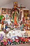 Interior, Our Lady of Guadalupe Shrine--El oratorio de Juan Diego y la sacrada familia built by the Vigil family, San Luis Valley, Colo.