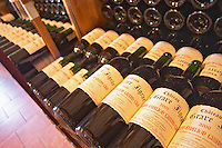 Chateau La Grave Figeac 2000, Saint Emilion Grand Cru Classe - rows of bottles for sale at the winery. - Chateau La Grave Figeac, Saint Emilion, Bordeaux