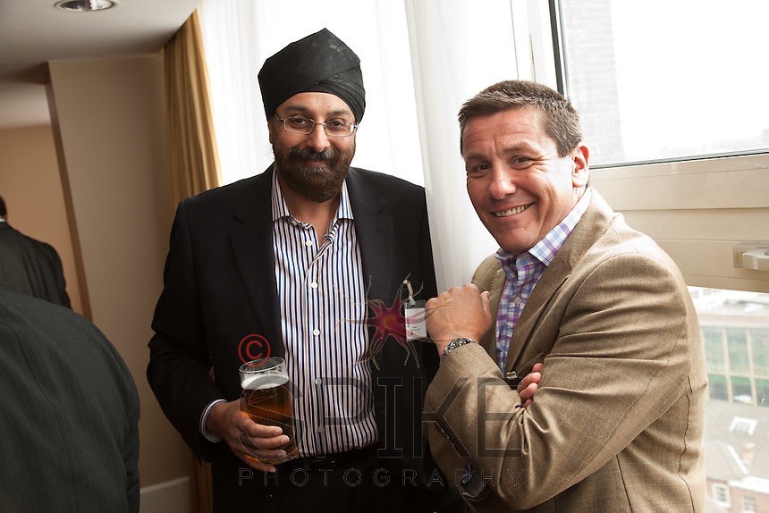Tej Basson of Honister Partners (left) with Nigel Rowlson of The Dairy