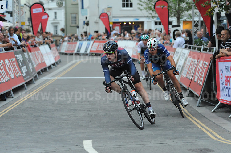 The 2017 Abergavenny Festival of Cycling on Friday 7th July 2017 - <br /> <br /> Lead bike is Matthew Gibson of JLT Condor racing team  who finished in 2nd place. Behind Matthew is Harry Tanfield of BIKE Channel Canyon racing team who finished in 3rd place.  <br /> <br /> <br /> Jeff Thomas Photography<br /> www.jaypics.photoshelter.com<br /> e-mail swansea1001@hotmail.co.uk<br /> Mob: 07837 386244