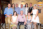 David Hourigan, Pallas, Limerick, pictured with Helena Hourigan, Yvonne and Paul O'Keeffe, Mary O'Keeffe, Claire and Sean O'Keefe, Eamon O'Keeffe, Cillian O'Muineachain and Hazel Hourigan as he celebrated his 60th birthday in the Killarney Avenue hotel on Saturday night. ..........................................................................................
