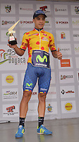 BOYACA - COLOMBIA: 11-09-2016. Alvaro Duarte campeón de la montaña tras la última etapa de la 38 versión de la vuelta Ciclista a Boyaca 2016 que se corre entre  Sora y Tunja. La prueba se corre entre el  7 y el 11 septiembre de 2016./ Alvaro Duarte mountain champion after the last stage of the Vuelta a Boyaca 2016 that took place between village of Sora and Tunja city. The race is held between 7 and 11 of September of 2016 . Photo:  VizzorImage/ José Miguel Palencia / Liga Ciclismo de Boyaca