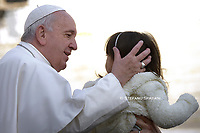 Pope Francis during of a weekly general audience at St Peter's square in Vatican, Wednesday.November 27; 2019