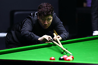 Beijing, CHINA-3rd April 2018: Yan Bingtao competes with Kurt Maflin at Snooker China Open 2018 in Beijing, April 3rd, 2018. (EDITORIAL USE ONLY. CHINA OUT)