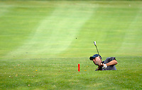 USA Team player Stewart Cink plays 2nd shot from a ditch after an errant drive from partner Chad Campbell on the 15th hole during the Morning Foursomes on Day 2 of the Ryder Cup at Valhalla Golf Club, Louisville, Kentucky, USA, 20th September 2008 (Photo by Eoin Clarke/GOLFFILE)