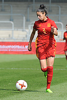 20170408 - EUPEN ,  BELGIUM : Spanish Leila Ouahabi  pictured during the female soccer game between the Belgian Red Flames and Spain , a friendly game before the European Championship in The Netherlands 2017  , Saturday 8 th April 2017 at Stadion Kehrweg  in Eupen , Belgium. PHOTO SPORTPIX.BE | DIRK VUYLSTEKE