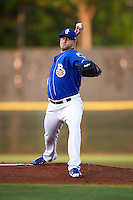 Biloxi Shuckers starting pitcher Tyler Wagner (34) during a game against the Birmingham Barons on May 23, 2015 at Joe Davis Stadium in Huntsville, Alabama.  Birmingham defeated Biloxi 2-0 as the Shuckers are playing all games on the road, or neutral sites like their former home in Huntsville, until the teams new stadium is completed in early June.  (Mike Janes/Four Seam Images)