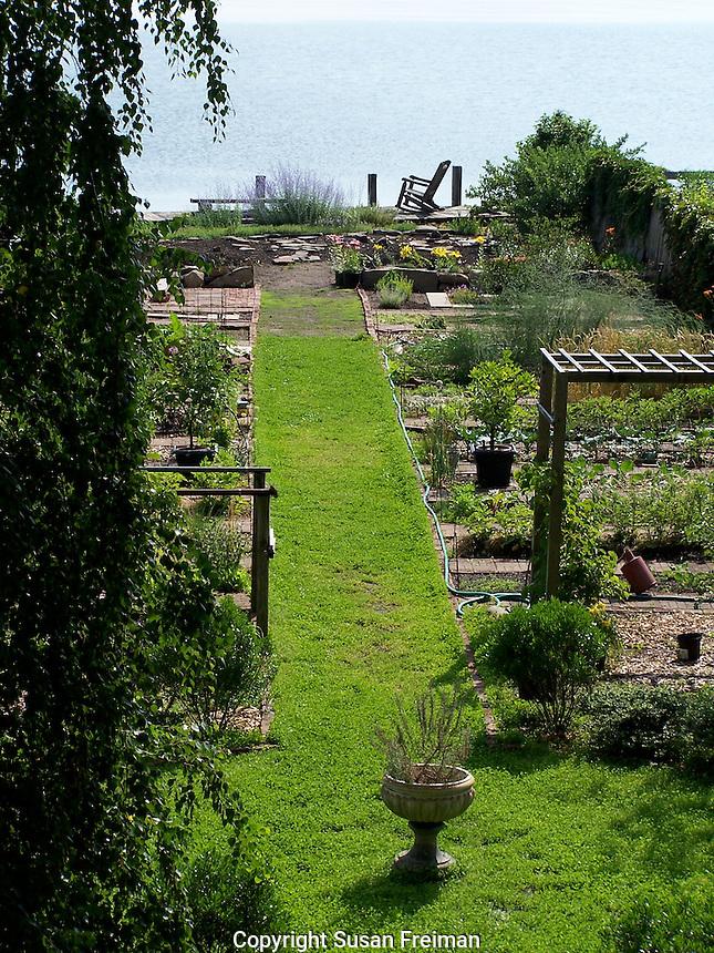 Joan Gussow's garden in Piermont, NY