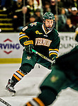 17 October 2015:  University of Vermont Catamount Forward Jonathan Turk, a Senior from Calgary, Alberta, in second period action against the University of Nebraska Omaha Mavericks at Gutterson Fieldhouse in Burlington, Vermont. The Catamounts fell to the Mavericks 3-1. Mandatory Credit: Ed Wolfstein Photo *** RAW (NEF) Image File Available ***