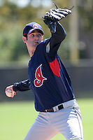 Cleveland Indians minor leaguer Jim Deters during Spring Training at the Chain of Lakes Complex on March 17, 2007 in Winter Haven, Florida.  (Mike Janes/Four Seam Images)