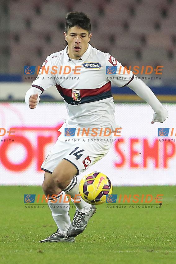 Roncaglia Facundo Genoa CFC,  <br /> Napoli 26-01-2015 Stadio San Paolo <br /> Football Calcio Serie A Napoli SSC- Genoa CFC<br /> Foto Cesare Purini / Insidefoto