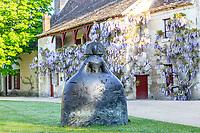 France, Indre-et-Loire (37), Chenonceaux, château et jardins de Chenonceau, la cour de ferme