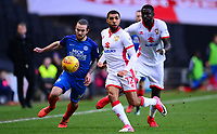Scott Golbourne of Mk Dons in action during the Sky Bet League 1 match between MK Dons and Peterborough at stadium:mk, Milton Keynes, England on 30 December 2017. Photo by Bradley Collyer / PRiME Media Images.