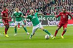01.12.2018, Weser Stadion, Bremen, GER, 1.FBL, Werder Bremen vs FC Bayern Muenchen, <br /> <br /> DFL REGULATIONS PROHIBIT ANY USE OF PHOTOGRAPHS AS IMAGE SEQUENCES AND/OR QUASI-VIDEO.<br /> <br />  im Bild<br /> <br /> Serge Gnabry (FC Bayern Muenchen #22)<br /> #Davy Klaassen (Werder Bremen #30)<br /> Franck Ribery (FC Bayern Muenchen #07)<br /> Maximilian Eggestein (Werder Bremen #35)<br /> <br /> Foto &copy; nordphoto / Kokenge