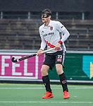 AMSTELVEEN -  Wiegert Schut (Adam) met masker  tijdens de hoofdklasse competitiewedstrijd heren, AMSTERDAM-ROTTERDAM (2-2). COPYRIGHT KOEN SUYK