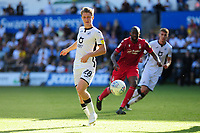 George Byers of Swansea City in action during the Sky Bet Championship match between Swansea City and Nottingham Forest at the Liberty Stadium in Swansea, Wales, UK. Saturday 14 September 2019