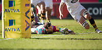 Harlequins' Tim Visser nearly scores for Harlequins<br /> <br /> Photographer Bob Bradford/CameraSport<br /> <br /> Aviva Premiership Round 14 - Harlequins v Wasps - Sunday 11th February 2018 - Twickenham Stoop - London<br /> <br /> World Copyright &copy; 2018 CameraSport. All rights reserved. 43 Linden Ave. Countesthorpe. Leicester. England. LE8 5PG - Tel: +44 (0) 116 277 4147 - admin@camerasport.com - www.camerasport.com