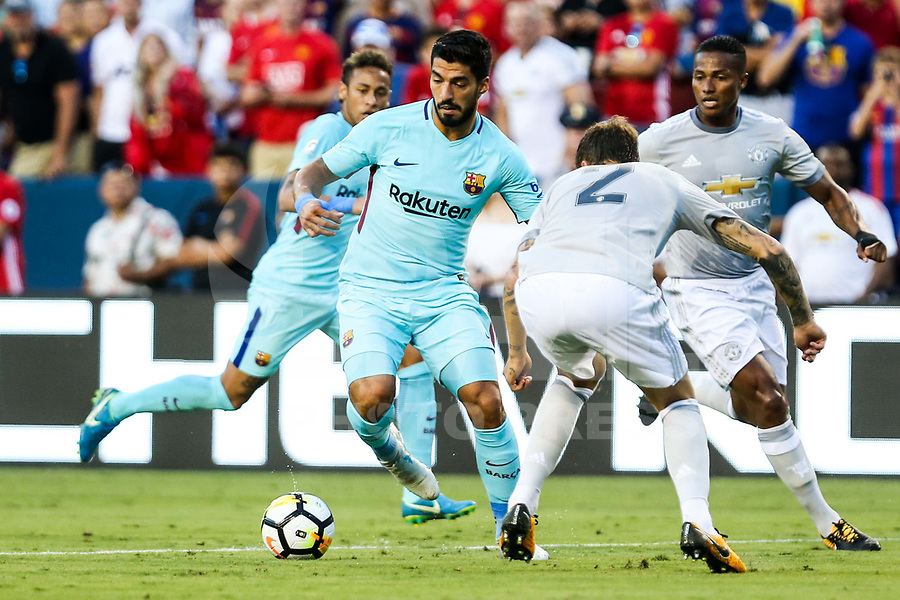LANDOVER, EUA, 26.07.2017 - BARCELONA-MANCHESTER UNITED -  Luis Suarez do Barcelona durante partida contra o Manchester United jogo valido pela Internacional Champions Cup no  FedExField, Landover nos Estados Unidos nesta quarta-feira, 26.(Foto: William Volcov/Brazil Photo Press)