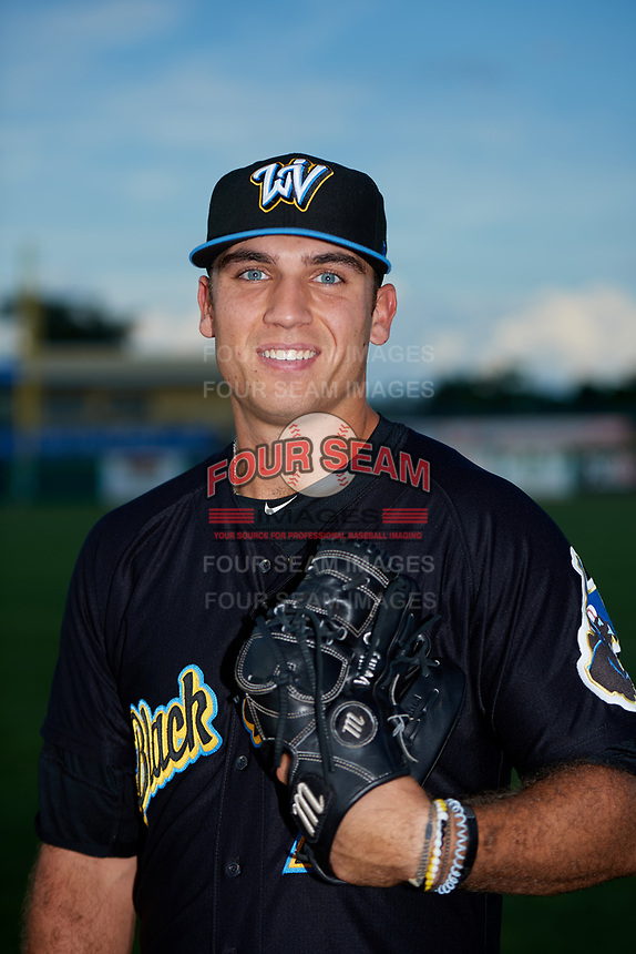 West Virginia Black Bears pitcher Will Gardner (29) poses for a photo before a game against the State College Spikes on August 30, 2018 at Medlar Field at Lubrano Park in State College, Pennsylvania.  West Virginia defeated State College 5-3.  (Mike Janes/Four Seam Images)