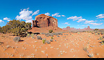 Monument Valley Landscape, Elephant Butte and Northern Buttes, Composite Panorama, Monument Valley Navajo Tribal Park, Navajo Nation Reservation, Utah/Arizona Border
