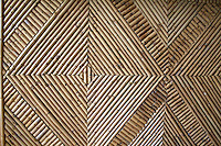 Woven rattan matting in Tonga