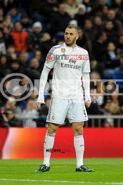 Real Madrid´s Karim Benzema during 2014-15 La Liga match between Real Madrid and Levante UD at Santiago Bernabeu stadium in Madrid, Spain. March 15, 2015. (ALTERPHOTOS/Luis Fernandez) /NORTEphoto.com