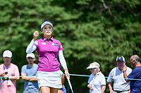 So Yeon Ryu (KOR) after sinking her putt on 1 during Sunday's final round of the 72nd U.S. Women's Open Championship, at Trump National Golf Club, Bedminster, New Jersey. 7/16/2017.<br /> Picture: Golffile | Ken Murray<br /> <br /> <br /> All photo usage must carry mandatory copyright credit (&copy; Golffile | Ken Murray)
