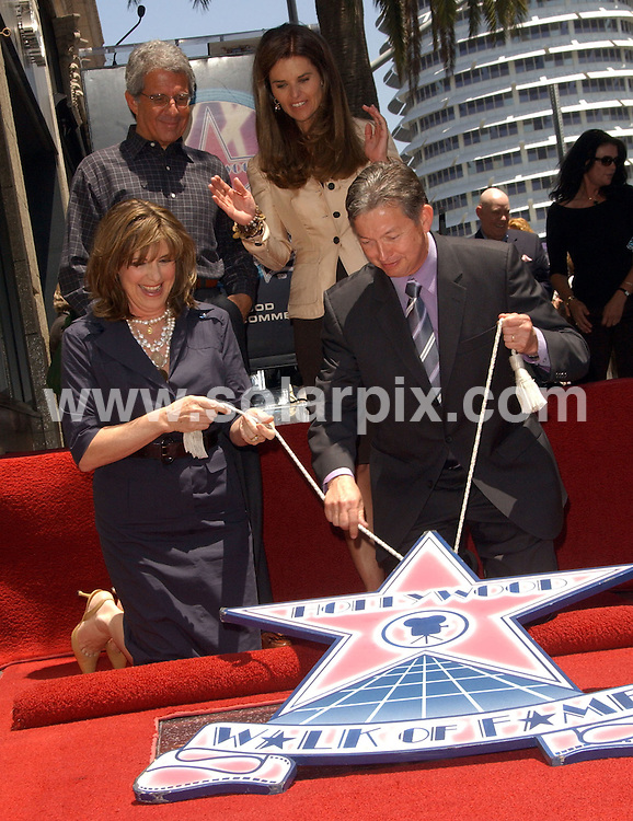 **ALL ROUND PICTURES FROM SOLARPIX.COM**.**SYNDICATION RIGHTS FOR UK, SPAIN, PORTUGAL, AUSTRALIA, S.AFRICA & DUBAI (U.A.E) ONLY**.The Hollywood actress Susan Saint James Honoured With A Star On The Hollywood Walk OF Fame on 1645 Vine Street in Hollywood California in the USA. .This pic:Ron,Meyer,Maria,Shriver,Susan,Saint,James,and,Leron,Gubler.JOB REF:6622-PHZ/Albert.L.Ortega    DATE:11_06_08 .**MUST CREDIT SOLARPIX.COM OR DOUBLE FEE WILL BE CHARGED* *UNDER NO CIRCUMSTANCES IS THIS IMAGE TO BE REPRODUCED FOR ANY ONLINE EDITION WITHOUT PRIOR PERMISSION*