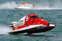 26  July, 2009, Trenton, Michigan USA.Mike Beegle (#9) showing some damage and a missing nose cone..©2009 F.Peirce Williams USA.SST-45 class