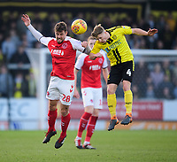 Fleetwood Town's Jack Sowerby vies for possession with Burton Albion's Jamie Allen<br /> <br /> Photographer Chris Vaughan/CameraSport<br /> <br /> The EFL Sky Bet League One - Saturday 23rd February 2019 - Burton Albion v Fleetwood Town - Pirelli Stadium - Burton upon Trent<br /> <br /> World Copyright © 2019 CameraSport. All rights reserved. 43 Linden Ave. Countesthorpe. Leicester. England. LE8 5PG - Tel: +44 (0) 116 277 4147 - admin@camerasport.com - www.camerasport.com
