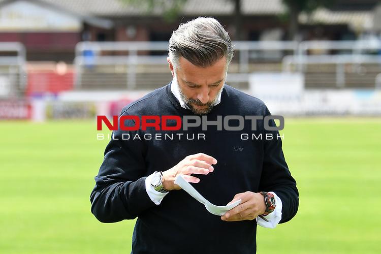 28.06.2020, Hänsch-Arena, Meppen, GER, 3.FBL, SV Meppen vs. FC Ingolstadt 04 <br /> <br /> im Bild<br /> Trainer Tomas Oral (FC Ingolstadt 04)<br /> <br /> DFL REGULATIONS PROHIBIT ANY USE OF PHOTOGRAPHS AS IMAGE SEQUENCES AND/OR QUASI-VIDEO<br /> <br /> Foto © nordphoto / Paetzel