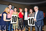 Winners of the Kerins O'Rahilly's GAA Club,Tralee Strictly Come Dancing were, Ogie Moran and Eileen O'Shea (public Vote),Dominic McGrath and Rosie McGrath (Judges vote) L-r: Deirdre Walsh (Judge, Dominic Walker and Rosie Walker, Ogie Moran and Eileen O'Shea, Caroline McEnery and Billy Keane (Judges)