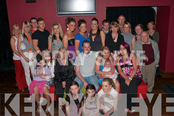 KEY TO THE DOOR: Vicky Egan, Connolly Pk., Tralee (seated 2nd right) celebrated her 21st birthday on Friday night in the Deacon with her parents Mary and James, sisters Tara and Kellyann and her own daughter Natasha and all her friends and family.   Copyright Kerry's Eye 2008